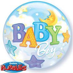 Helium ballon geboorte jongen. Kraamfeest? Bij Fun en Feest vind je de leukste geboorte versiering en decoratie.