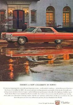 "1965 Cadillac Sedan DeVille, ""...New Celebrity in town"""