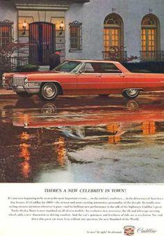"1965 Cadillac Sedan DeVille, ""...New Celebrity in town"""