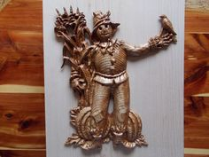 SALE CLEARANCE:  Wood Scarecrow Fall Decor by TheWoodGrainGallery
