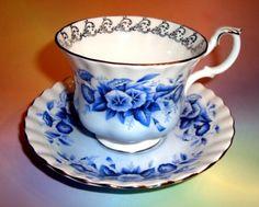 Royal Albert Melody Series Rhapsody Tea Cup and Saucer Set   eBay