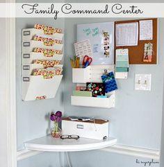 Hi Sugarplum | Family Command Center using Martha Stewart Home Office Wall Manager #marthastewarthomeoffice