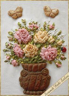 Gallery.ru / Фото #11 - Вышивка лентами и керамика из интернета. - Marianna1504