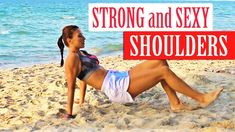 Cool Shoulder Exercises - No Weights covers 4 shoulder exercises you can do at home without any weights . The exercises are funny but they help you build str. Shoulder Exercises, Shoulder Workout, Quick Workouts, Weights, Cool Stuff, Bikinis, Sexy, Bikini, Bikini Tops
