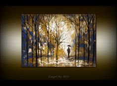Original Oil Painting  Rainy Day  by GargoviArtGallery on Etsy, $180.00