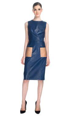 Patrícia Viera Special Leather Bicolor Dress