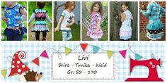 E-Books & Tutorials - E Book Shirt / Tunic / Dress Livi Gr.50-170 - a design piece by Lolletroll on DaWanda