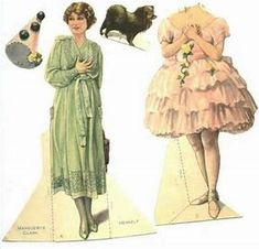 Image result for silent film paper dolls
