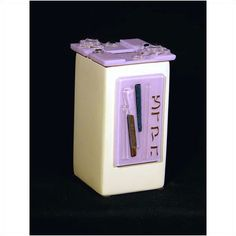 Beames Designs Tzedakah Box Lavendar TD2, Artistic Artisan Designer Judaica