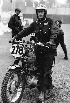 Vintage Steve McQueen and motorcycles ...