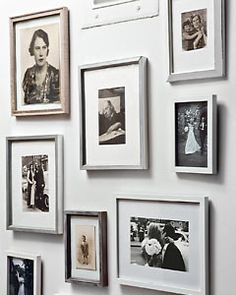 Oude familiefoto's in zilvergrijze kaders = mooi, maar koeler