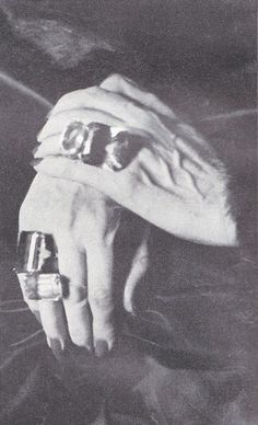 Edith Sitwell's Hands with Rings Photograph by Jane Brown