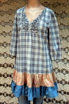 REVIVAL Upcycled Women's Shirt/Top/Blouse/Mini Dress by REVIVAL, $37.99