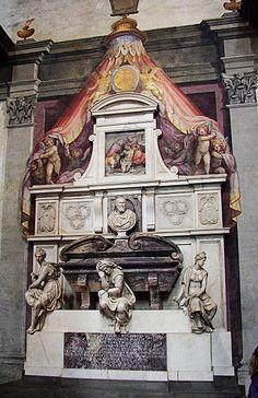 #Florence #SantaCroce #Tomb  --  Michelangelo's tomb  --  Santa Croce Basilica  --  Florence, Italy