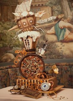 Seriously AMAZING steampunk cake.  Yes!