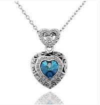 Wish | 18K White Gold Plated Pendant Necklace N560