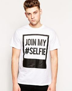 New+Look+T-Shirt+with+Selfie+Print