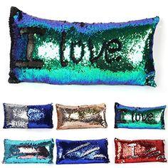 0d59b1688 Two-color Long Mermaid Pillow Cases DIY Magic Reversible SequinsChangeable  Pattern Fashion Rectangle Pillowcase Car Sofa Home Decorative Cushion Cover  ...