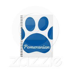 Pomeranian Paw Blue Notebook