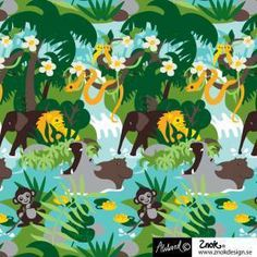 This Organic Cotton/Spandex Jersey is Organic Cotton and Spandex. It is wide and weighs 220 GSM. The elephants are 2 long. This fabric stretches in the width and in the length.Machine wash cold and line dry. Made in Europe. Buy Shop, Cotton Spandex, Organic Cotton, Sewing Patterns, Elephant, Knitting, Disney, Design, Fabrics