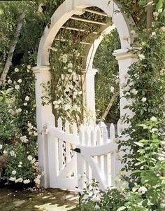 Beautiful Garden entrance with god garden info.