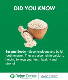 Sesame seeds – dissolve plaque and build tooth enamel. Sesame seeds – dissolve plaque and build tooth enamel. They are also rich in calcium, helping to keep your teeth healthy and strong! Dental Health, Dental Care, Oral Health, Health And Beauty Tips, Health Tips, Types Of Yogurt, Beauty Hacks Lips, Plaque Removal, Tooth Enamel