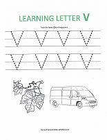Preschool letter tracing worksheets for writing time!