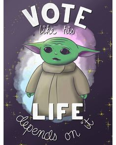 Dear American friends, do you have a voting plan? The powers that be would love nothing more than for you to just stay home and not vote. They are going to make this difficult. I implore you, please don't give them what they want. Vote. Do it for The Child. This is the way. #VOTE