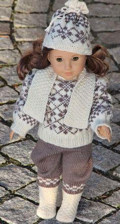 Weinlese Strickanleitung für Puppenkleidung Design: Målfrid Gausel