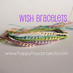 wish bracelets - make sure you get beads that fit the twine.  Had to search thru my bead collection to find some that fit the twine I used.