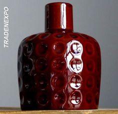 Vintage 1960-70's MELITTA Chocolate Bubble Vase West German Pottery Fat Lava Era #Melitta #MidCenturyModern