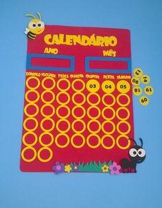 Painel de Calendário completo www.petilola.com.br