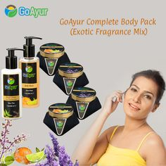 A big shout out to all #naturalbeauty lovers. #Goayur presenting a Complete body pack (Exotic fragrance mix) to pamper your skin with the goodness of 100%  #ayurvedicBeautyProducts with natural fragrances. Great for all skin types & all ages.   #BodyScrub  #FaceScrub #Bodywash #Bodylotion #Facecream ‪#‎herbalcosmetics #‎bodywash #NaturalCosmetics #MothersDay #GiftIdeas #GiftForHer