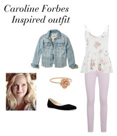 """""""Vampire Diaries Inspired Outfits #2"""" by caseyanne18 on Polyvore featuring Paige Denim, Hollister Co. and Nine West"""