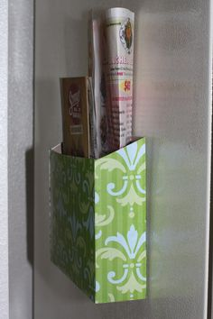 Magnetic Cereal Box Menu Holder