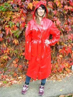 Travel Raincoat, Baby Raincoat, Red Raincoat, Vinyl Raincoat, Plastic Raincoat, Hooded Raincoat, Parka, Rain Fashion, Women's Fashion