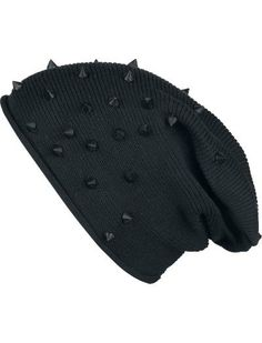 Studded Light Beanie Ahskdishdlokkl there is spikes on this black beanie. hats beanies Designer Clothes, Shoes & Bags for Women Dark Fashion, Emo Fashion, Gothic Fashion, Womens Fashion, Lolita Fashion, Fashion Boots, Fashion Dresses, Style Punk Rock, Mode Punk
