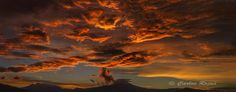 The fiery sky above the Popocatépetl and Iztaccíhuatl volcanoes in Mexico [2500x985]