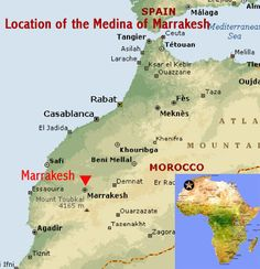 Map showing the location of the Medina of Tetouan UNESCO world ...