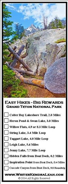 Grand Teton National Park Easy Hikes with Big Rewards « Kendra Leah Fuller Grand Teton National Park, Yellowstone National Park, Places To Travel, Places To See, Camping Places, Travel Destinations, Yellowstone Vacation, Wyoming Vacation, Summer Travel