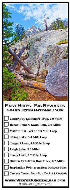 Grand Teton National Park Easy Hikes with Big Rewards #GrandTetons