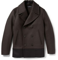 Gucci Panelled Quilted Wool Peacoat | MR PORTER