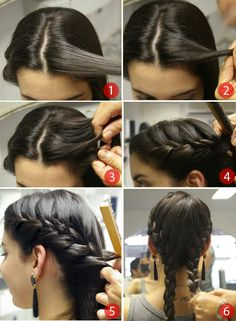 Best How To Braid Pigtails 28 Ideas Interview Hairstyles, Gym Hairstyles, French Braid Hairstyles, Pretty Hairstyles, Hairdos, French Braid Pigtails, Pigtail Braids, French Braids, Katniss Everdeen Hair
