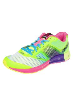 Reebok ONE CUSHION 2.0 - Demping hardloopschoenen - solar yellow/white/ultima purple - Zalando.nl