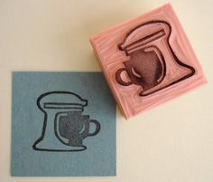 Papercut Kitchen: Weekend Feature: CupCake Tree Hand Carved Rubber Stamps