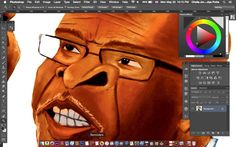 CLose up of a very loose drawing for tomorrow's caricature for Lusaka Times. Wasnt as tight and detailed as i would have liked. Time just flew away from me. Will post the full image tomorrow. - http://ift.tt/1HQJd81