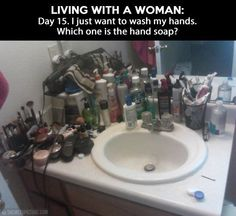 Living With A Woman funny memes men jokes women meme lol funny quotes funny sayings humor