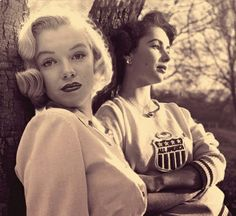 Marilyn and Elizabeth Taylor... Still 2 of the Most Beautiful woman that ever lived...