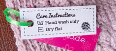 I made these laundry care labels for all crafters to download, print and attach to your handmade goodness. Share and enjoy! xX Miko