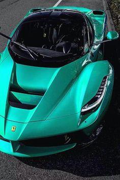 Mint Green Ferrari Laferrari